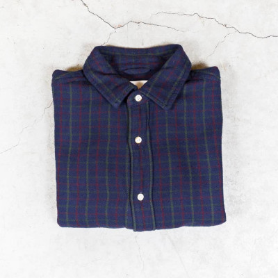 Loose Twill Checked Shirt
