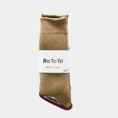 Linen Cotton Rib Socks