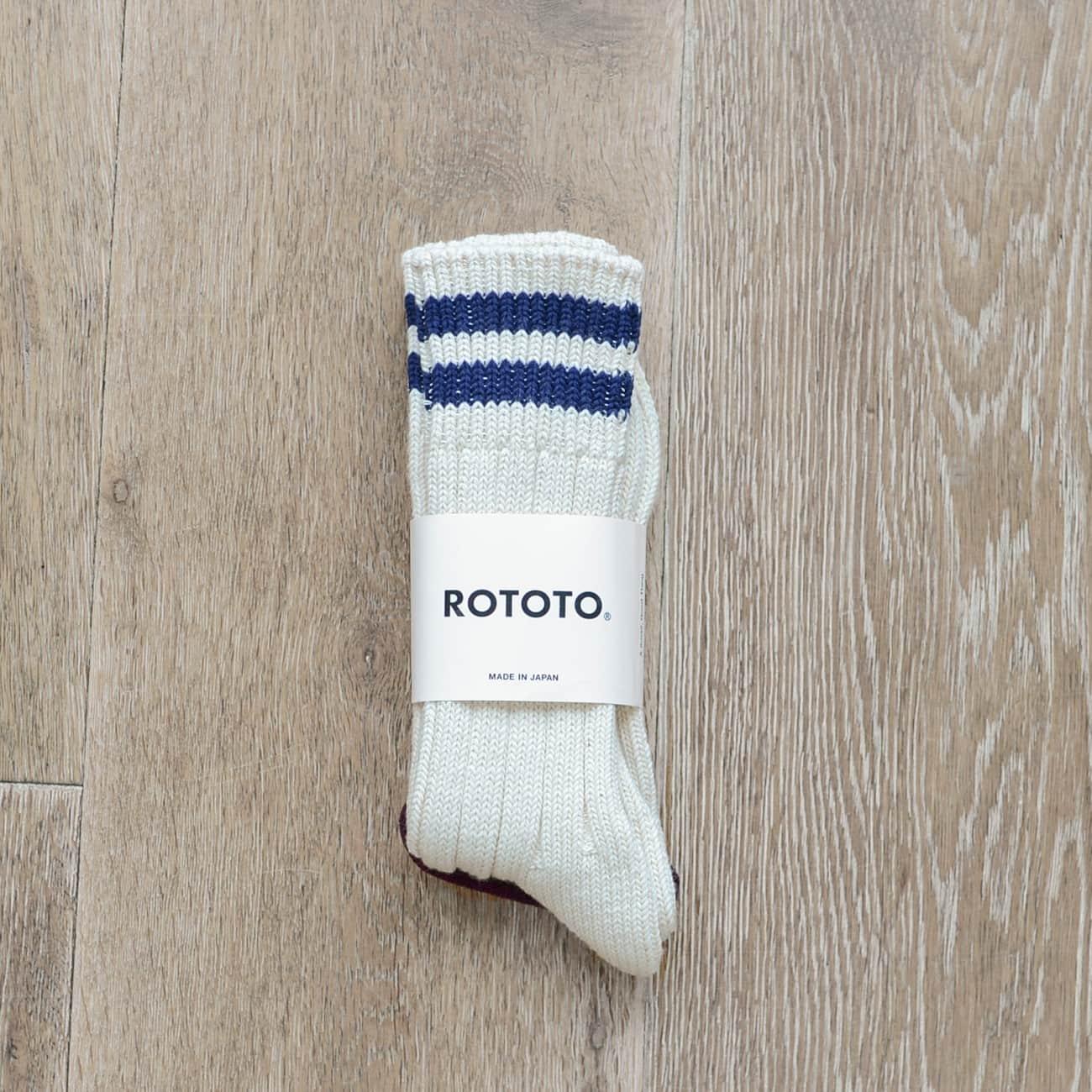 "Low Raw Socks ""2 stripes"""